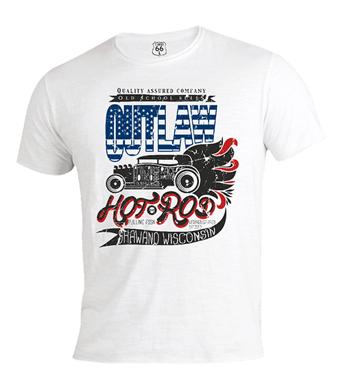 T-Shirt 66 - Hot rod outlaw man