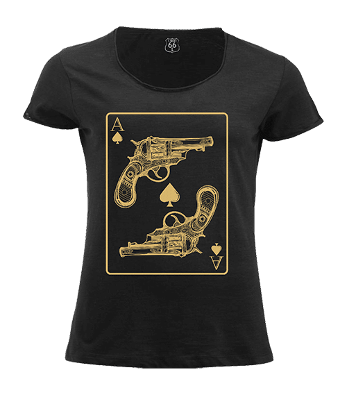 T-Shirt 66 - Ace guns woman black