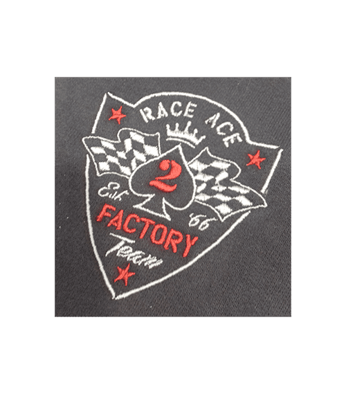 T-Shirt 66 - Felpa race ace ricamo