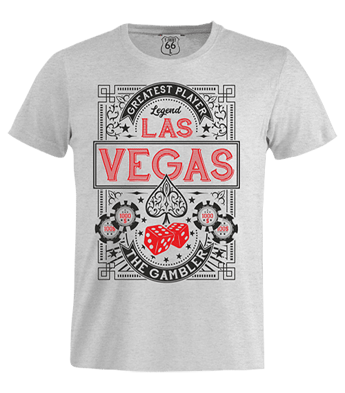 T-Shirt 66 - Las Vegas man grey