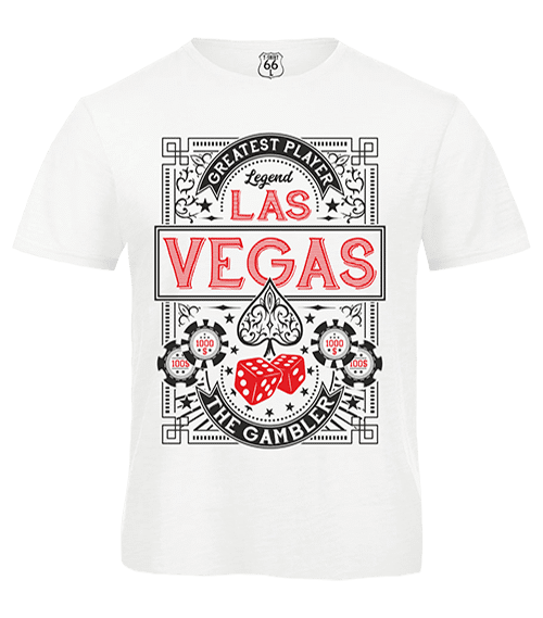 T-Shirt 66 - Las Vegas man white